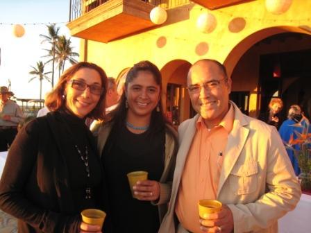 Event Coordinator, Lisa Welsch, with Hogar directors, Alicia & Joel Hernandez